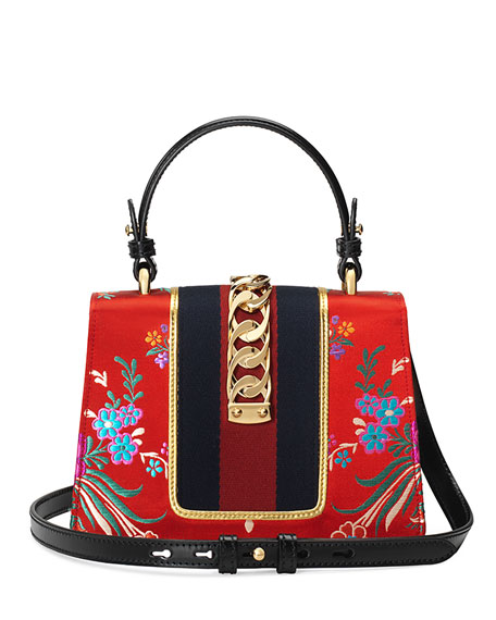 Gucci Sylvie Mini Brocade Top-Handle Bag TYDkU