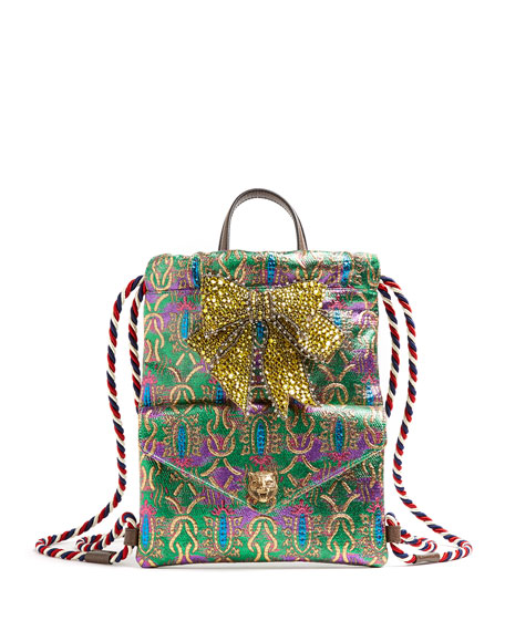 Gucci Brocade Techpack with Bow