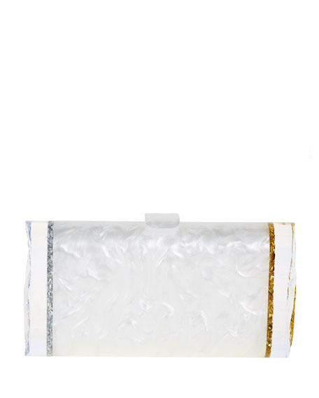 Edie Parker Lara Acrylic Backlit Ice Clutch Bag,