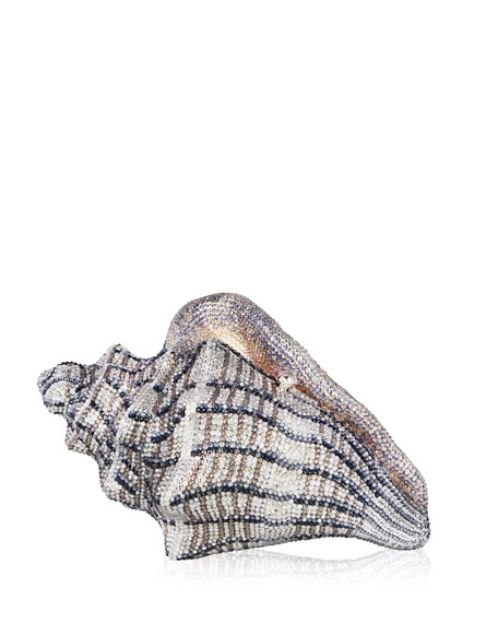 Judith Leiber Couture Cubana Conch Shell Crystal Clutch