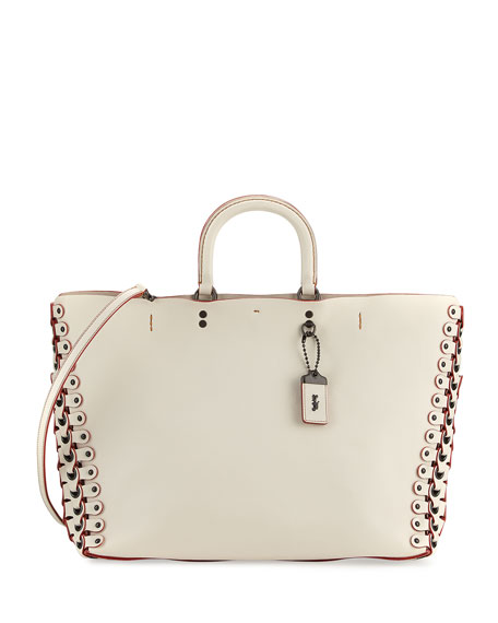 Coach 1941 Rogue Leather Tote Bag, White