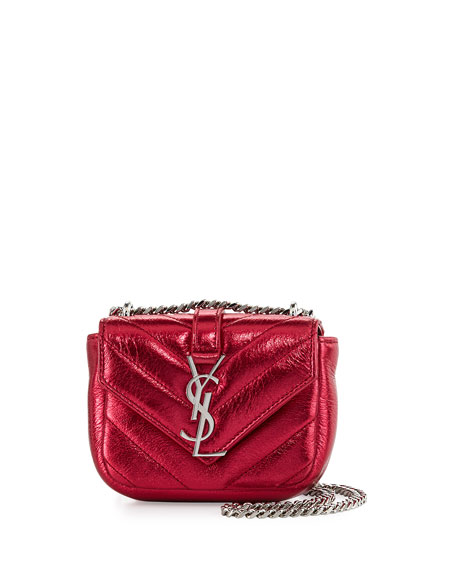 Saint Laurent Monogram Micro Quilted Leather Crossbody Bag,
