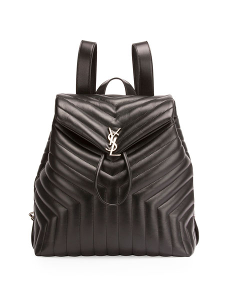 Saint Laurent Loulou Monogram Large Y Quilted Backpack