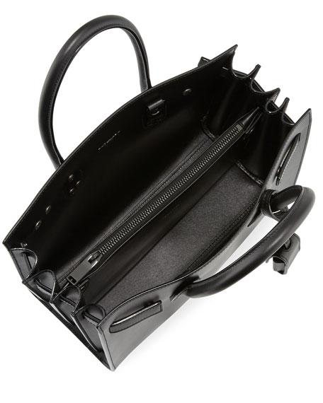 Sac De Jour Baby Bonded Tote Bag, Black
