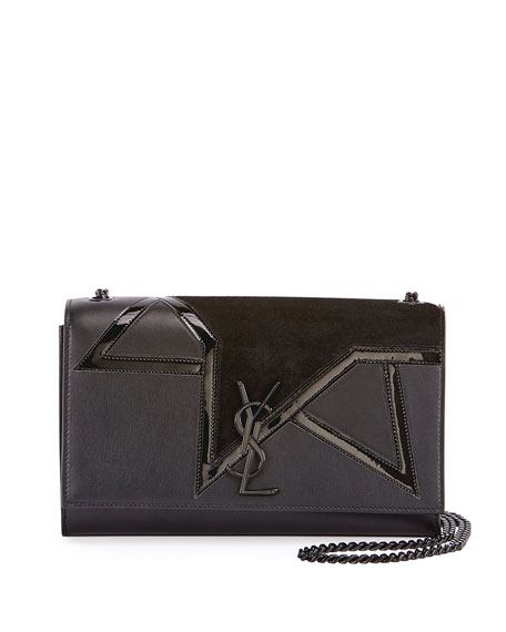 Saint Laurent Kate Monogram Medium Suede Star Chain