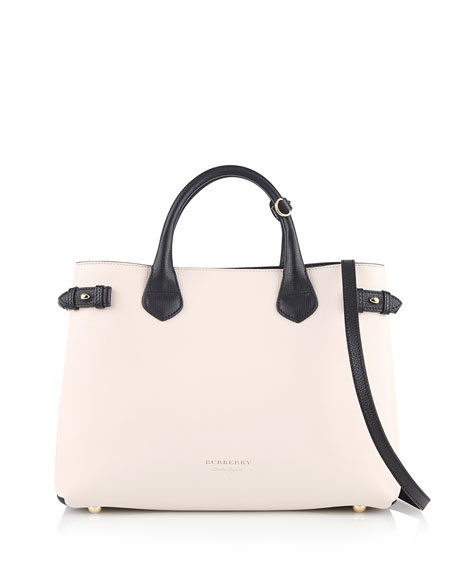 Burberry Banner Medium House Check Derby Tote Bag,