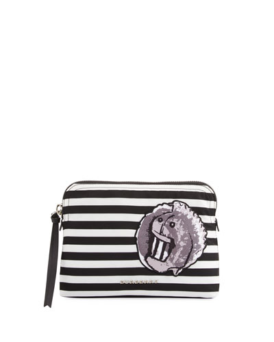 Pallas Head Nylon Stripe Pouch