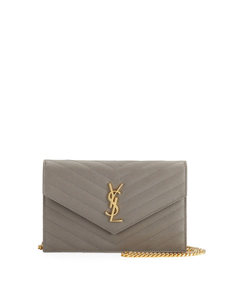 Monogram Matelassé Small Envelope Chain Wallet
