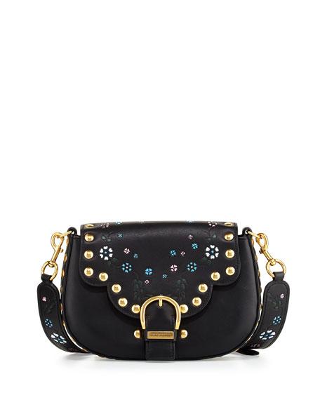 Marc Jacobs Navigator Floral Studded Flap Shoulder Bag,