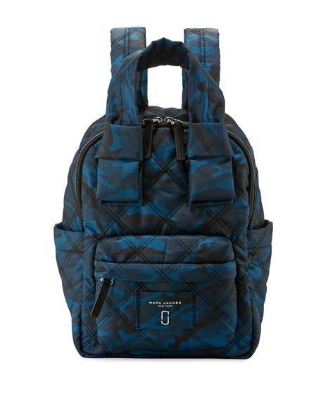 Marc Jacobs Nylon Knot Camo-Print Backpack, Navy