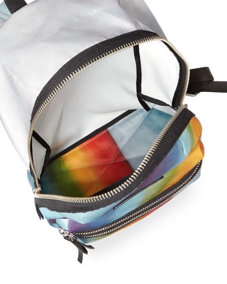 Rainbow-Print Nylon Biker Mini Backpack