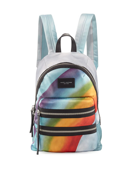 Rainbow-Print Nylon Biker Mini Backpack