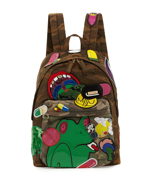 x Julie Verhoeven Camo Embellished Biker Backpack, Multi