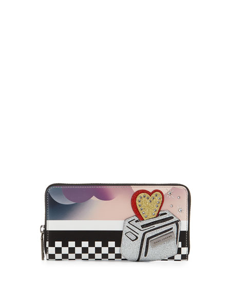 Marc Jacobs Clouds Continental Wallet, Blue/Multi
