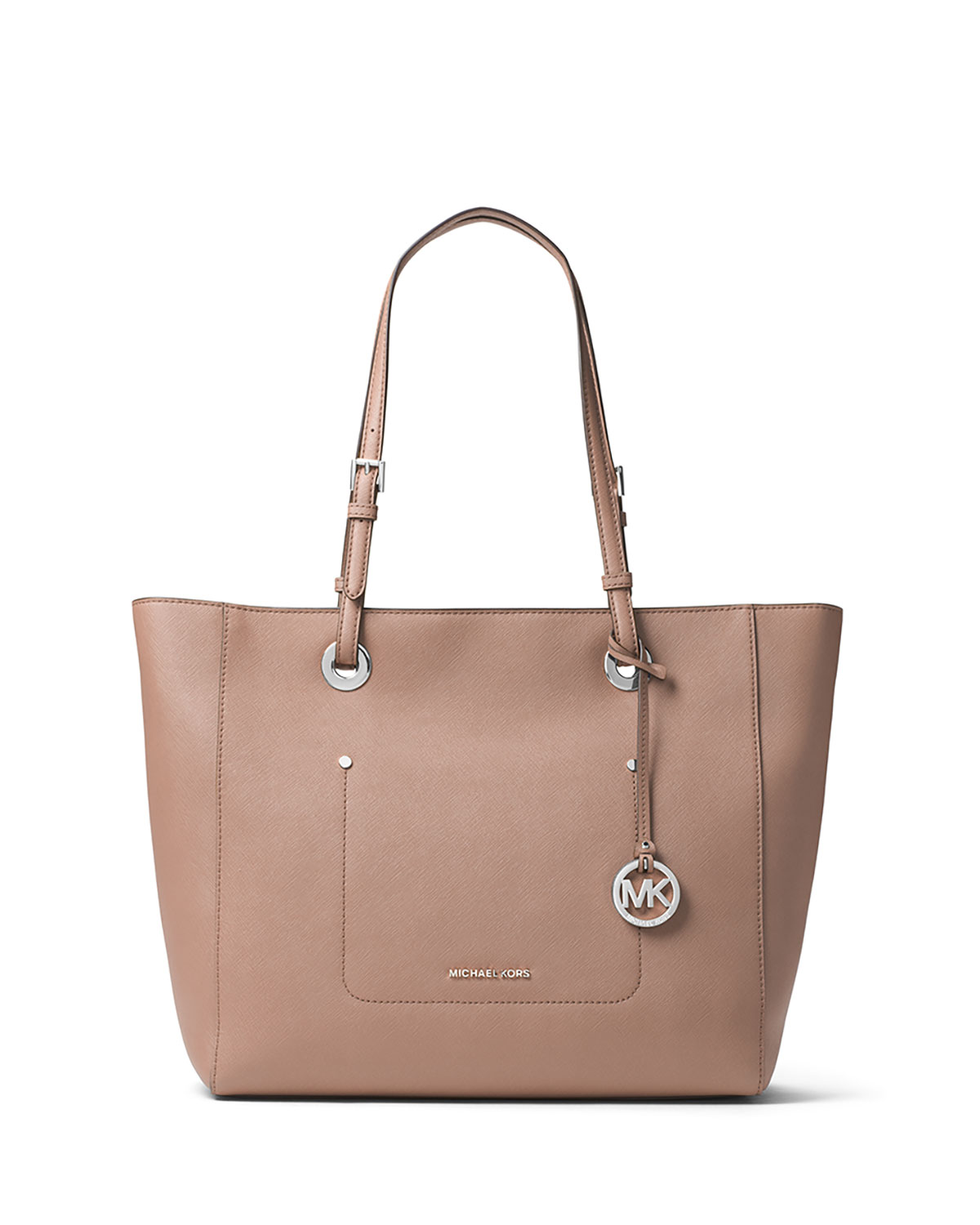 9be028fd2d3a MICHAEL Michael Kors Walsh Large East-West Top-Zip Tote Bag, Beige ...