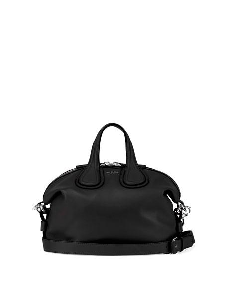 Nightingale Small Calf Crossbody Bag, Black
