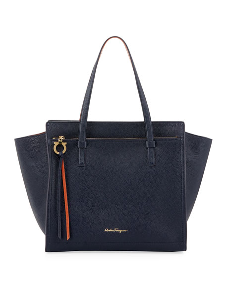 Salvatore Ferragamo Amy Large Leather Tote Bag, Multicolor