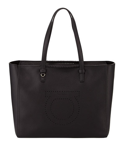Large Pebbled Leather Tote Bag