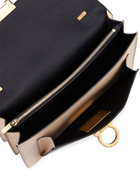 Medium Stingray Flap Bag, Black