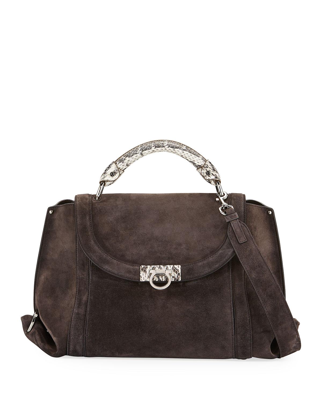 51716e7f9248 Salvatore Ferragamo Sofia Medium Soft Satchel Bag