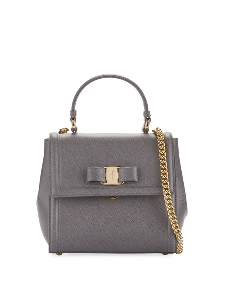 Salvatore Ferragamo Carrie Vara Small Satchel Bag, Gray