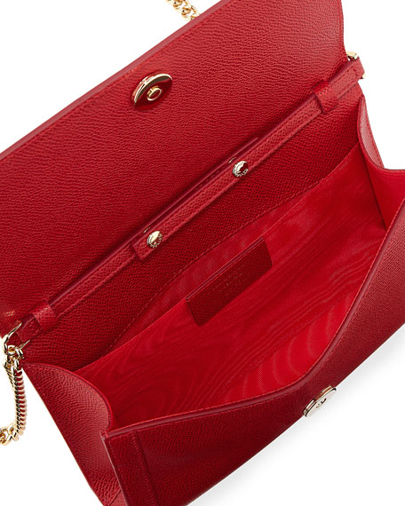 Miss Vara Mini Crossbody Clutch Bag, Red