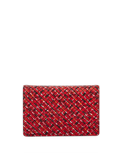 Splatter Full Flap Clutch Bag