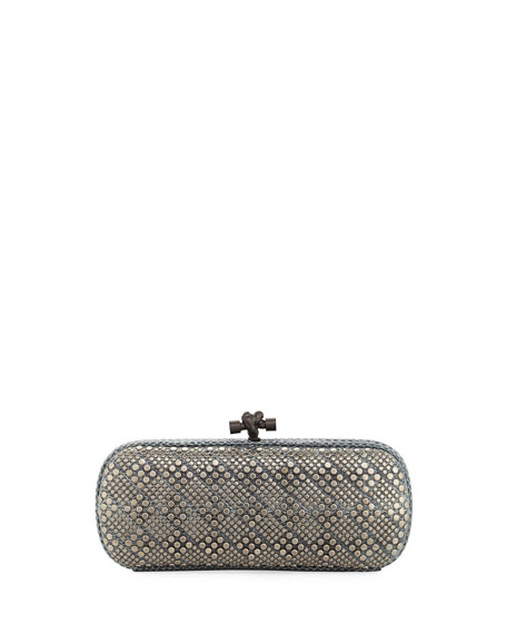 Bottega Veneta Elongated Snake-Embossed Clutch Bag