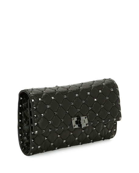 Rockstud Spike Chain Bag, Black