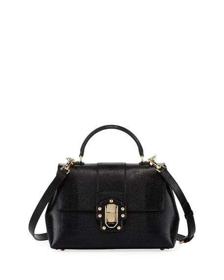 Dolce & Gabbana Lucia Medium Embossed Shoulder Bag