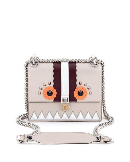 Kan I Faces Mini Shoulder Bag, Gray/Multi