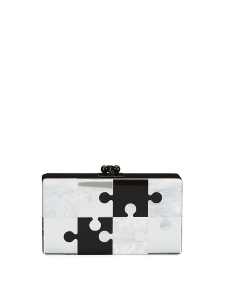 Edie Parker Jean Pop Resin Clutch Bag, Black
