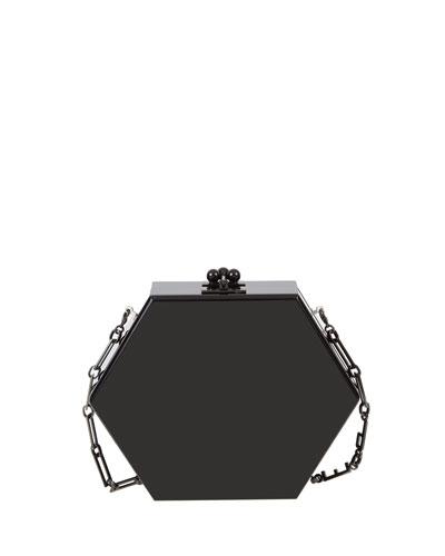 Macy Solid Hexagonal Clutch Bag