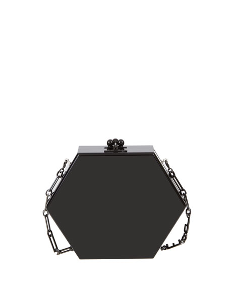Edie Parker Macy Solid Hexagonal Clutch Bag