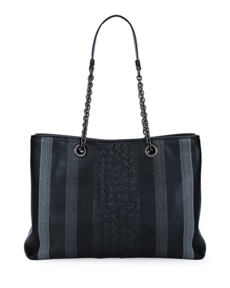 Double Chain Woven Tote Bag