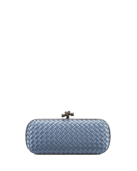 Bottega Veneta Satin-Snakeskin Stretch Knot Minaudiere Bag