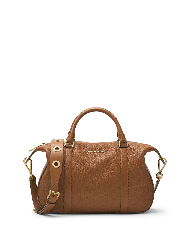 fe04e2b98b26 MICHAEL Michael Kors Raven Large Leather Satchel Bag | Neiman Marcus
