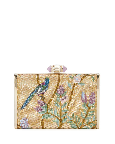 Songbird Slender Framed Clutch Bag, Gold