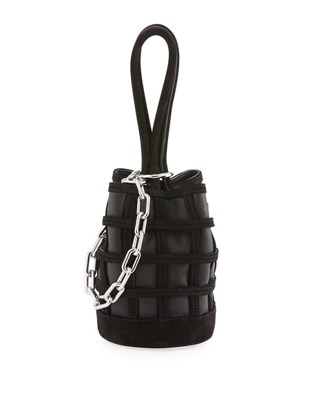 Alexander Wang Three-Way Leather Bucket Bag, Black