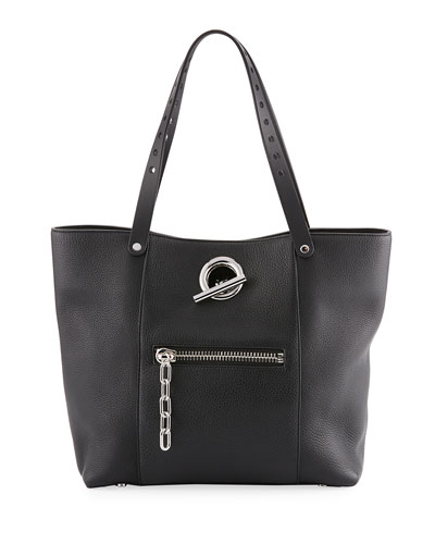 Riot Leather Tote Bag, Black