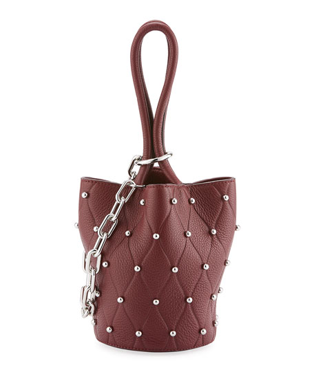 Alexander Wang Roxy Mini Studded Bucket Bag, Dark