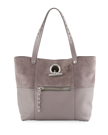 Alexander Wang Riot Matte Mixed Leather Tote Bag,