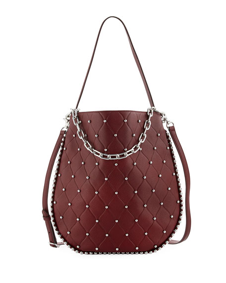 Alexander Wang Roxy Refined Pebbled Hobo Bag, Dark