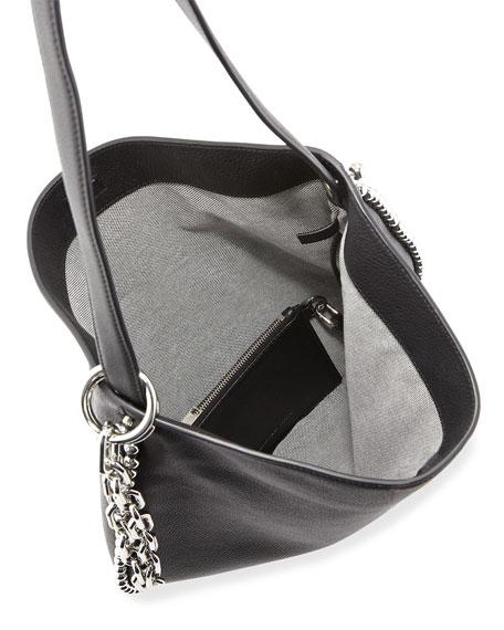 Roxy Pebbled Stud Hobo Bag, Black