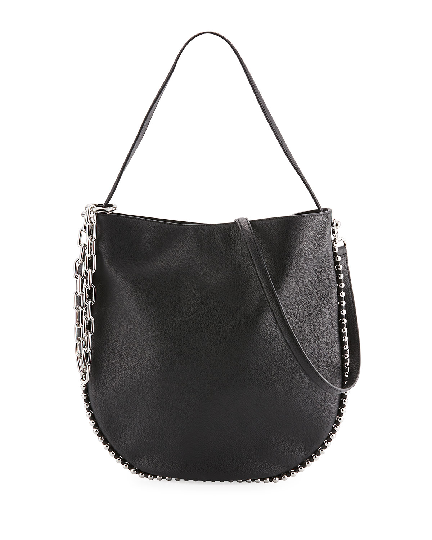 1568895509 Alexander Wang Roxy Pebbled Stud Hobo Bag
