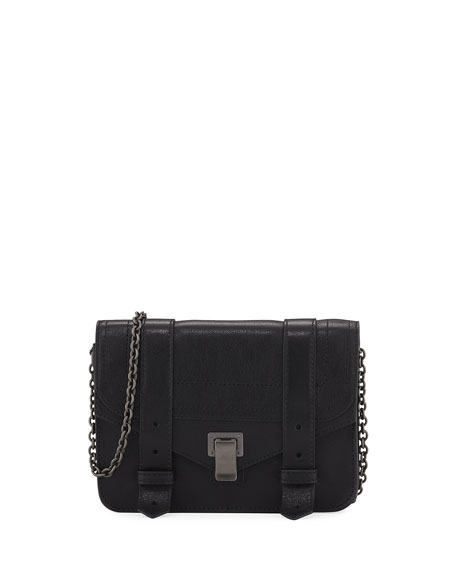PROENZA SCHOULER Ps1 Wallet On A Chain, Navy, Black