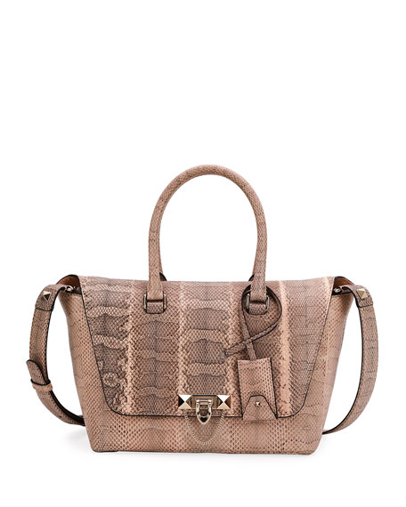 Demilune Small Watersnake Satchel Bag