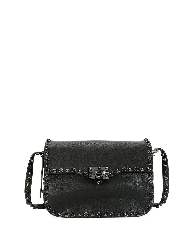 c72135d74f6095 Valentino Garavani Rockstud Rolling Noir Shoulder Bag, Black ...