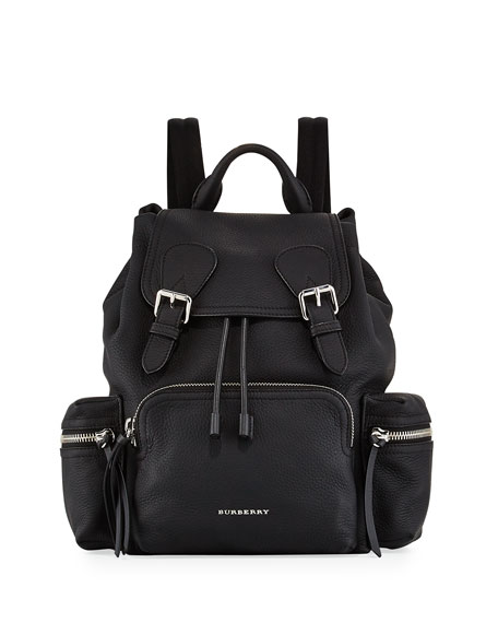 Burberry Rucksack Medium Leather Chain Backpack, Black
