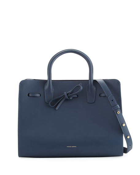 Mansur Gavriel Calf Leather Drawstring Sun Tote Bag,